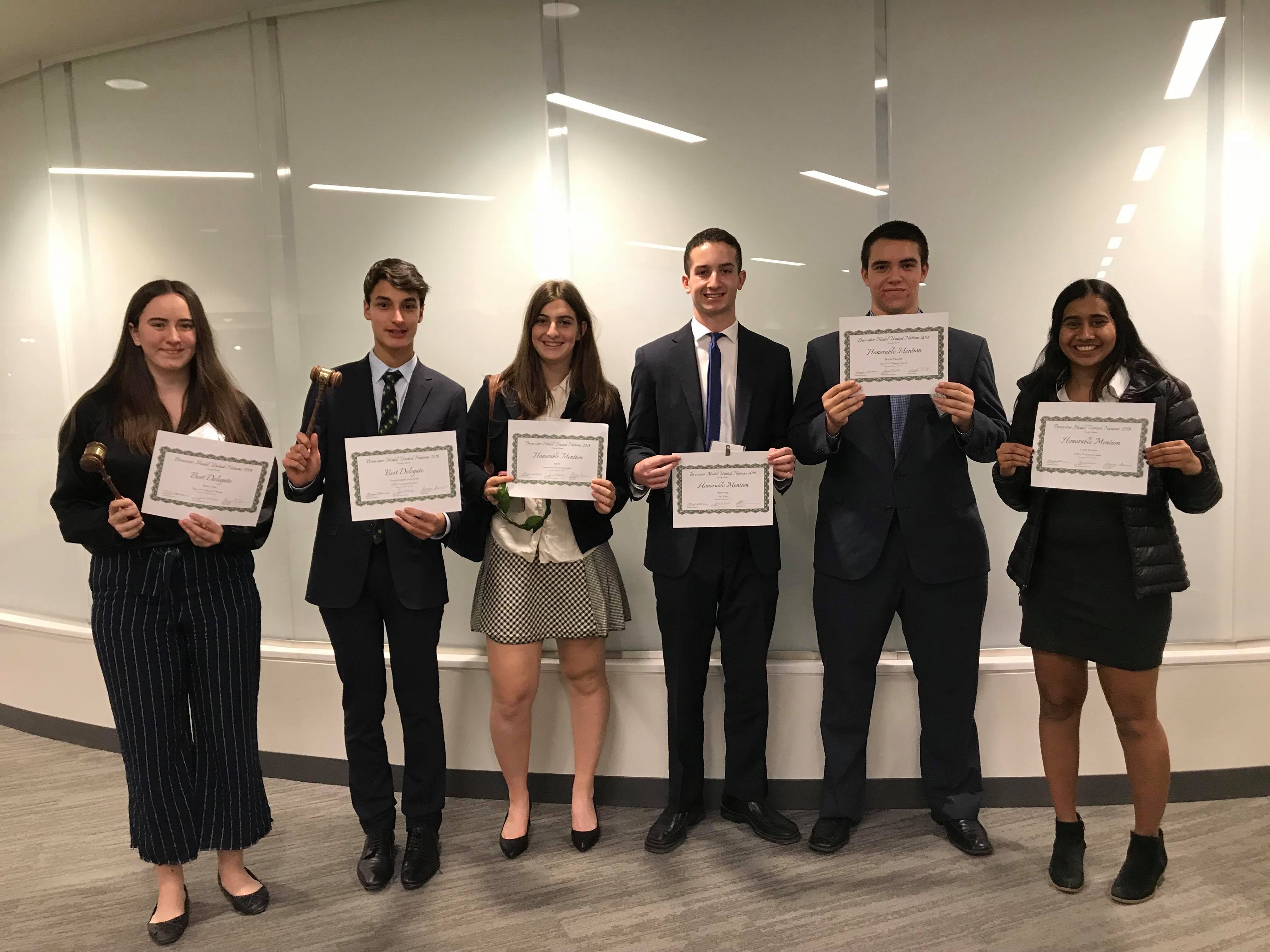 Congrats to our MUN Award Winners