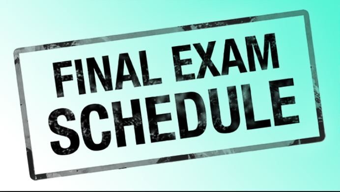 June 2019 Final Exam Schedule